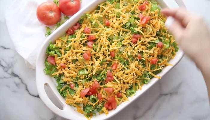 слой сыра и помидоров