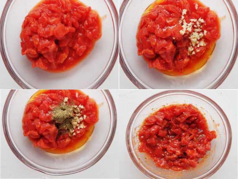 коллаж томатный