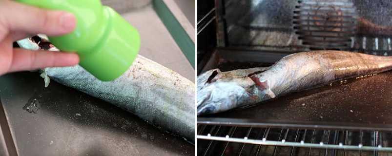 перчим и выпекаем рыбу