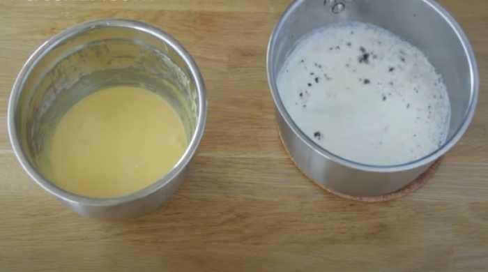 молоко и яичная смесь
