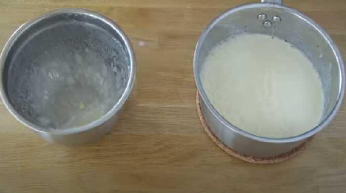 молоко с яичной смесьб