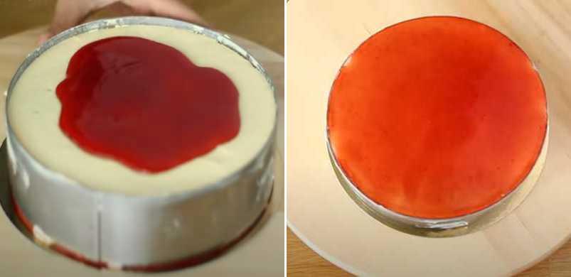покрываем вареньем торт