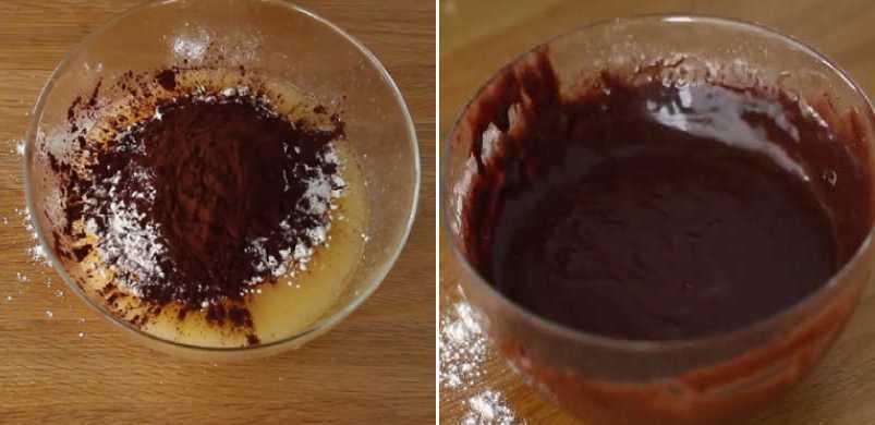 тесто с шоколадом