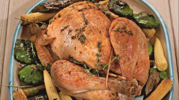 курица на второе в духовке