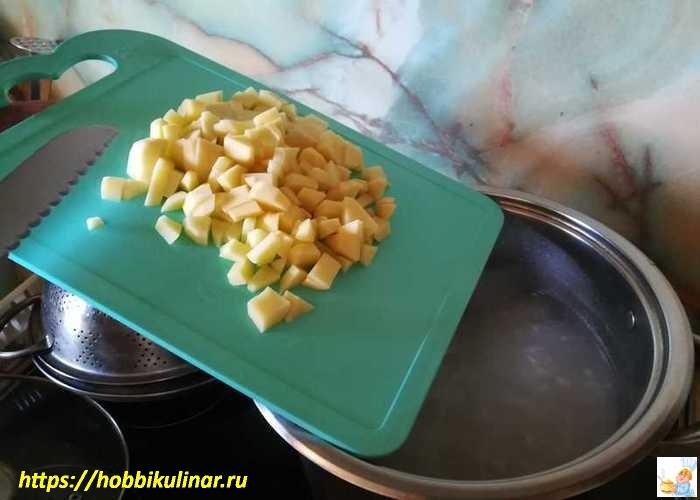 закладываем картошку