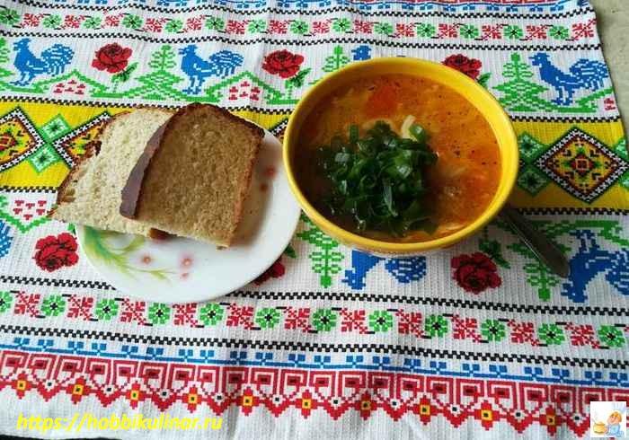 суп из фарша с вермишелью