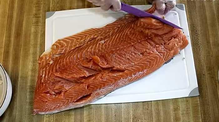 убираем кости из рыбы