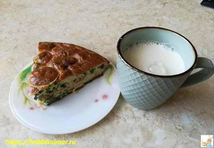 пирог с молоком