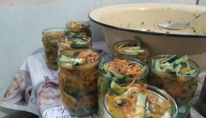 разложенный салат