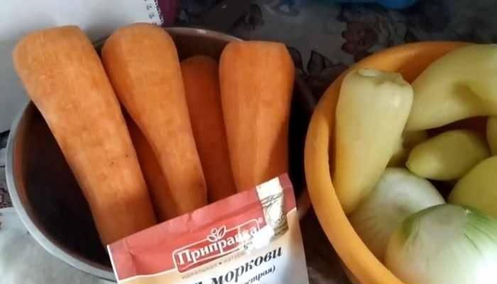 морковь, перца
