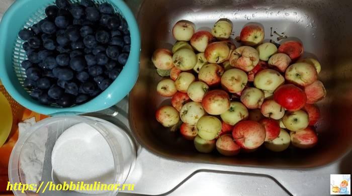 яблоки и ягоды
