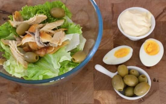 салат готовый