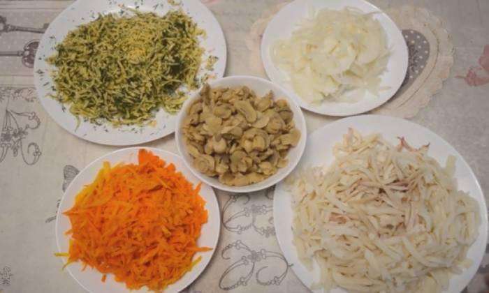 приготовленные ингредиенты