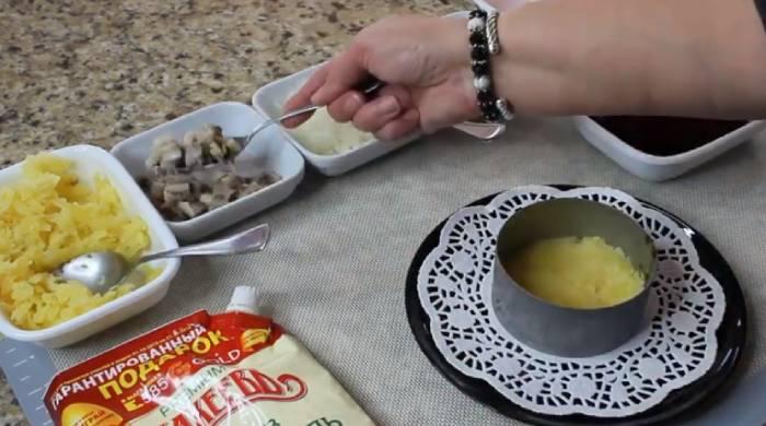 первый слой картошки