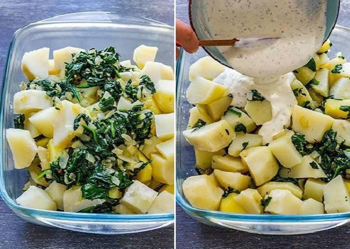картофель в форме