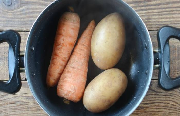 отваренные овощи