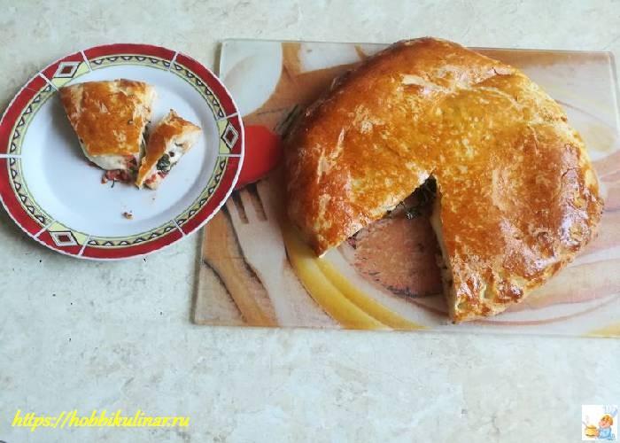 пирог с грибами в духовке из дрожжевого
