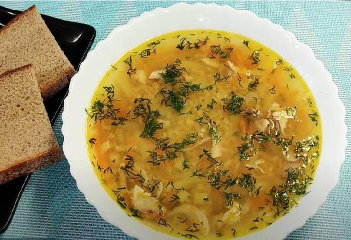 суп с чечевицей и курицей